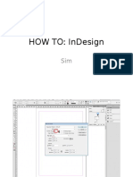 How to Use Indesign - SIMRAN KAUR