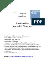 Goldman Sachs Introduction