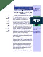 Information on Application of LVD