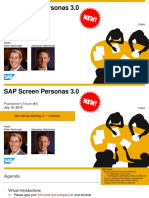 01 Practitioners Forum - SAP Screen Personas 3.0