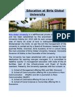 Best MBA Education at Birla Global University
