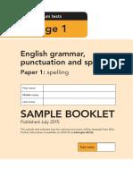 Sample Ks1 EnglishGPS Paper1 Spelling