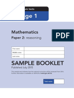 Sample Ks1 Mathematics Paper2 Reasoning