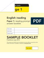 Sample Ks1 Englishreading Paper1 Promptanswerbooket