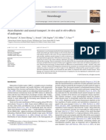 Axon Diameter and Axonal Transport
