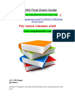 ACC 290 Final Exam Guide