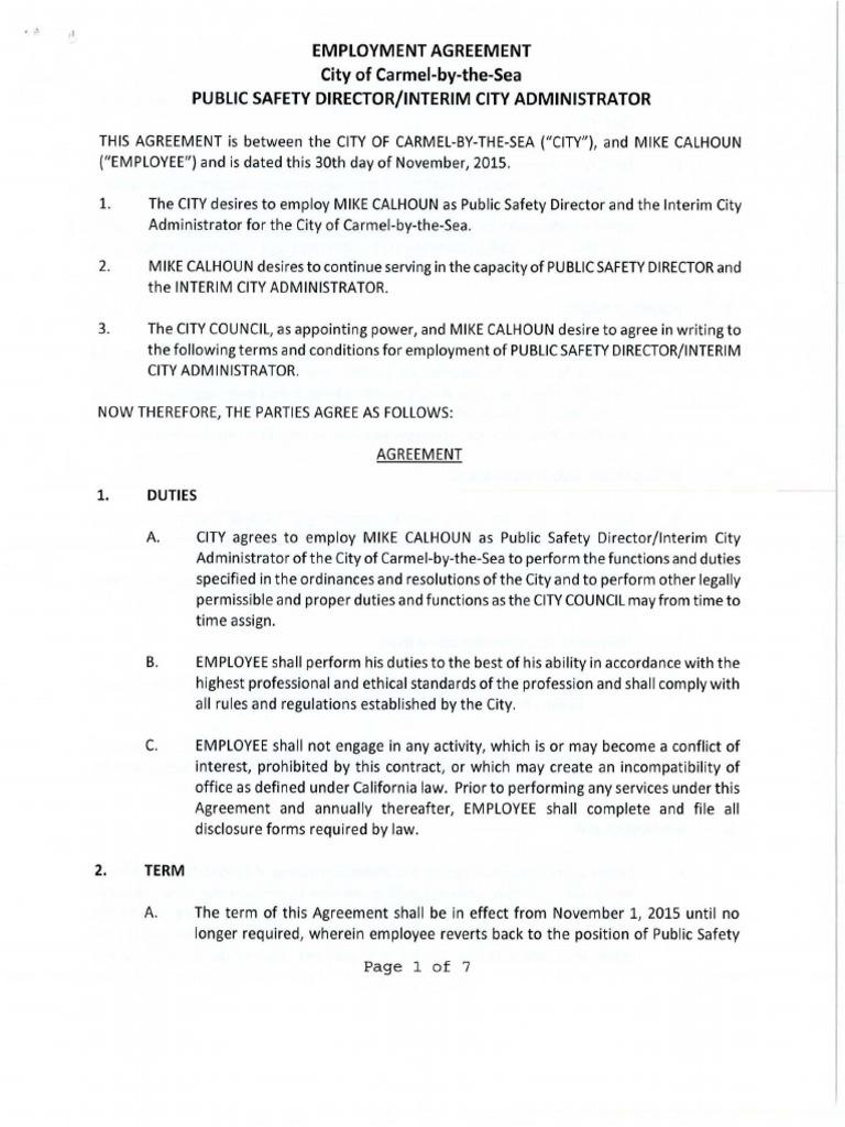 Employment Agreement 2015 Redacted Mediation Employment