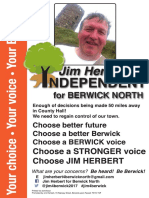 Jim Herbert for Berwick North 2017 election poster
