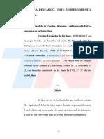 c8bc57617c Cristina presentó un escrito y no respondió preguntas de Bonadio