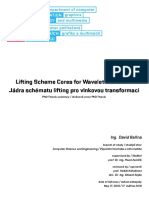 Lifting Scheme Cores for Wavelet Transform