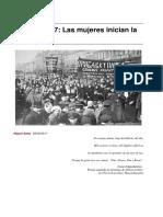 Febrero 1917. Las Mujeres Inician La Revolucion