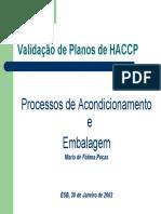 Validação de Planos de HACCP