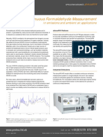 Accurate Continuous Formaldehyde Measurement
