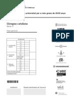 PAU per a més grans de 25/45 anys - Català - 2016