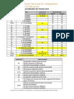 calendario de pagos 2016