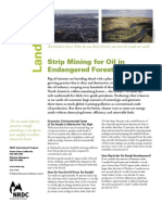 Strip Mining for Oil in Endangered Forests