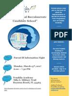 ib parent night flyer