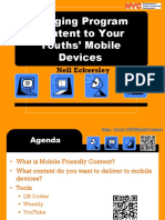 Bringing Program Content to Your Youth's Mobile Devices Presentation