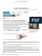 How Much Time is Required for PMP Preparation
