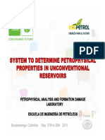System to Determina Petrophysical Properties in Unconventional