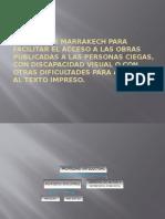 Tratado de Marrakech CIEGOS