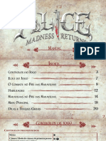Alice Madness Returns Manuals Portuguese Microsoft XBOX360