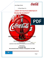 Summer project report in Cocacola