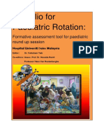 Portfolio for Paediatric Rotation 1