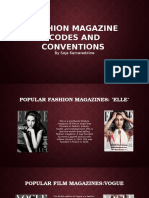 Fashion Magazine Codes and Conventions