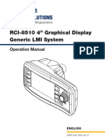 Rci-8510 a3 Graphical Cable-based Display Manual
