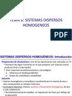 SISTEMAS DISPERSOS HOMOGENEOS