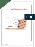 Procedure-Soil Nailing and Shotcrete