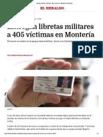 30-09-2016 Entregan libretas militares a 405 víctimas en Montería | El Heraldo.pdf