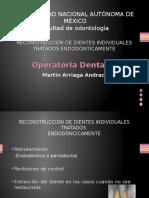 Reconstrucción de Dientes Individuales Tratados Endodonticamente