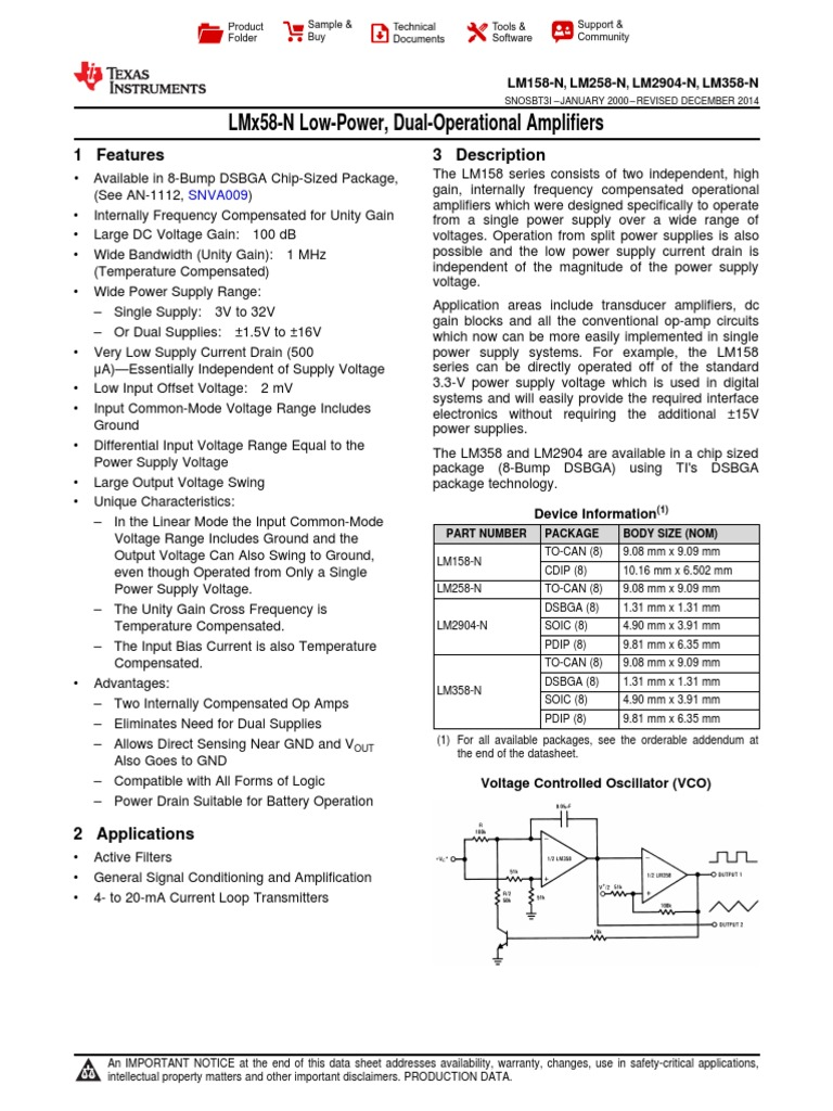 Lm2904 N Amplifier Operational Analog Timers Gururaj Products