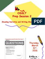 osslt 2015 prep session 2  reading multiple choice   short answer