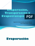 12 Evaporación. Transpiración. Evapotranspiración