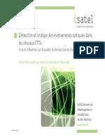 5 Detection Et Anayse Des Evenements Optiques Dans Les Installations FTTH - Gerald Richard