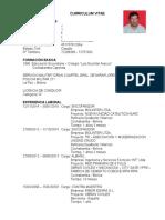 Curriculum Vitae Encofrador DATOS PERSONALES