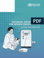 WHO - Technical Specifications for Oxygen Concentrators
