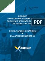 Informe Monitoreo de Agentes en Sive Toquepala 2015
