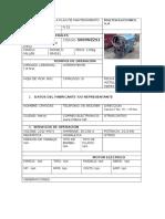 Registros de Maquinaria