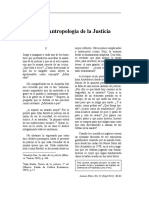 Breve Antropologia de La Justicia