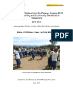 External evaluation - teacher training, DR Congo