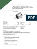 Xqisit Mini Speaker User Manual b04