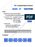 HPLC fatores importantes
