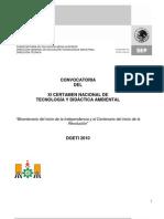 CONVOCATORIA XI CERTAMEN NACIONAL DE TECNOLOGÍA Y DIDÁCTICA AMBIENTAL