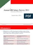 Annual HR Salary Survey 2011