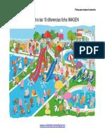 Encuentra Las 10 Diferencias Ficha Color Parque Acuatico a4
