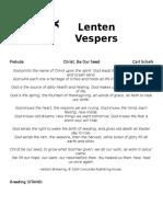 Lent Vespers Program 2017
